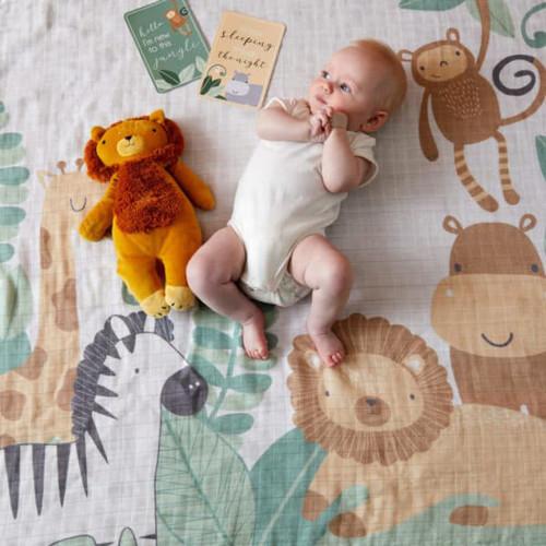 Safari Animal Milestone Blanket
