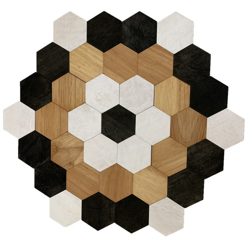 Hexagon Set Black, White and Natural 45 pieces | Papoose Toys