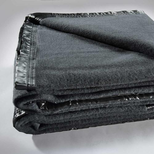 Bianca Australian Wool Blanket|Charcoal