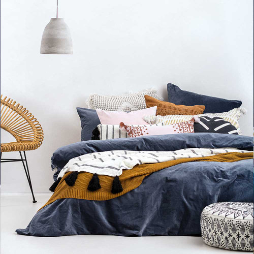 Emerson Quilt Cover & Pillowcase Set by Bambury|