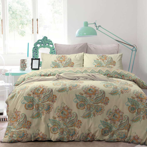 Apartmento Jamila Multi Quilt Cover & Pillowcase Set|