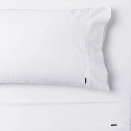 Linen House Augusta White 500TC Cotton Sheet set|White