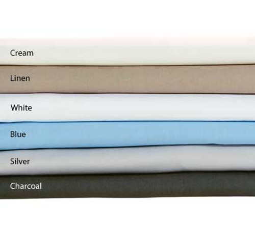 Linen House Remo 250TC Cotton Percale Fitted Sheet-40cm|Charcoal