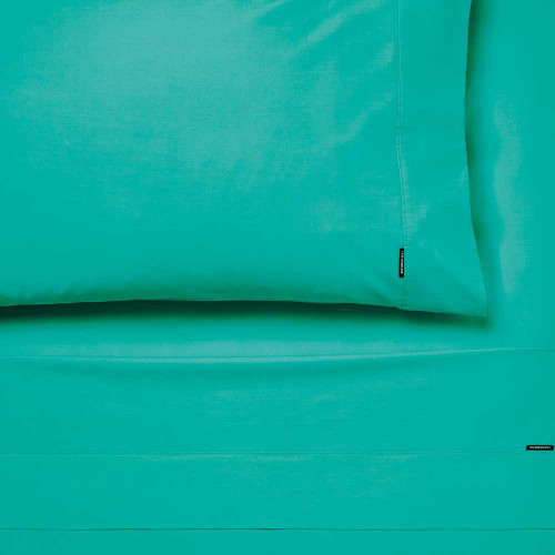 Remo 250TC Cotton Percale Sheet Set by Linen House|Turquoise