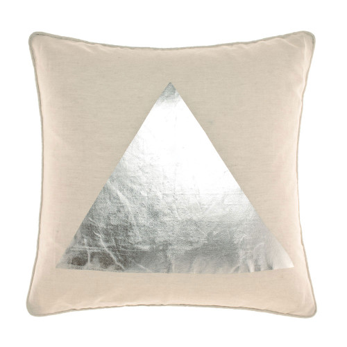Linen House Apex Cushion|Silver