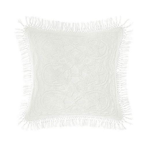 Drift White Cushion by Linen House|White