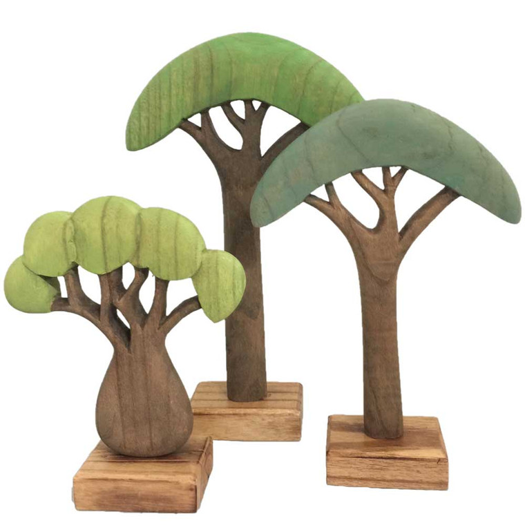 African Trees 3 Piece Set by Papoose Toys 
