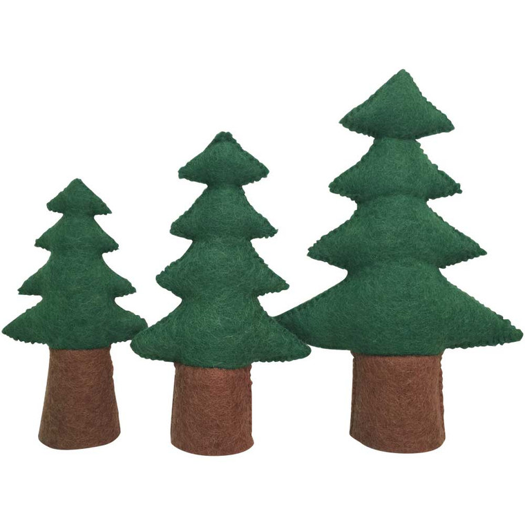 Pine Trees 3 Piece Set by Papoose Toys|