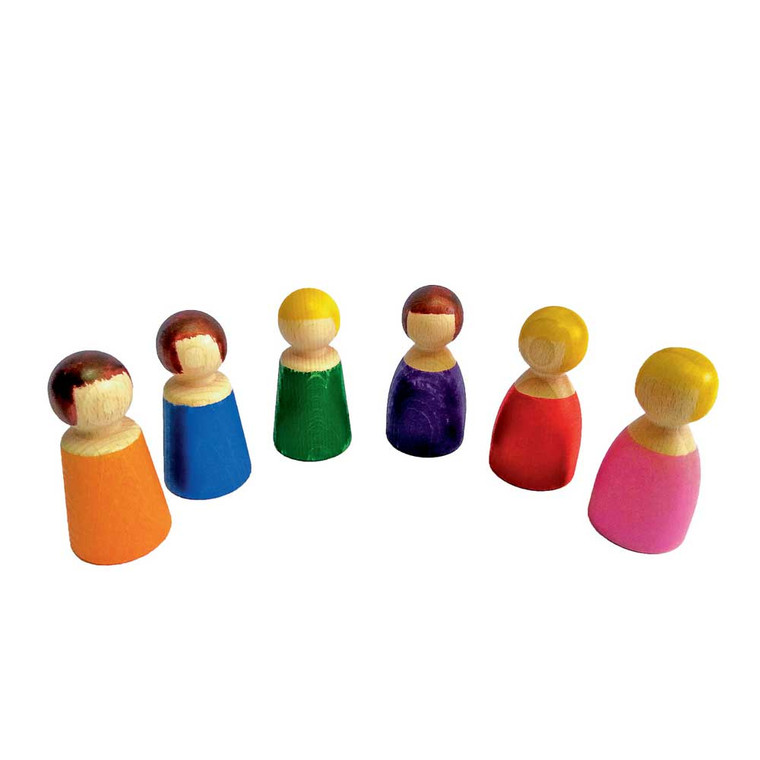 Wooden People 6 Piece Set by Papoose Toys|