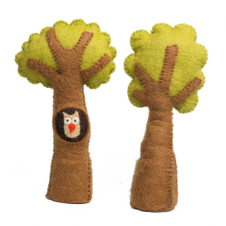 Tree & Owl Set 2 Piece Set by Papoose Toys|