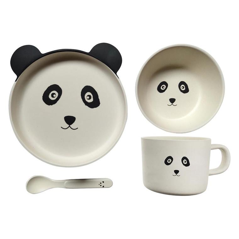 BambooWare Kids 4 PC Dining Set - Panda   Pilbeam