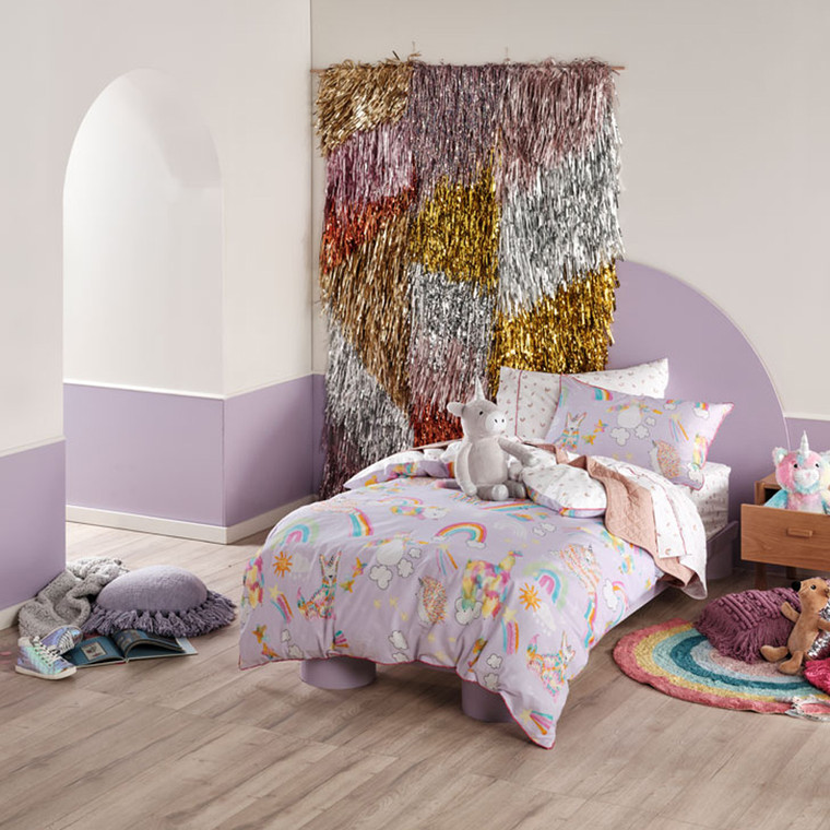 Unicorniverse Lilac Quilt Cover Set | Hiccups