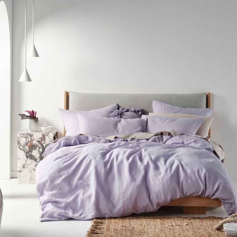 Nimes Lilac Quilt Cover Set | Linen House