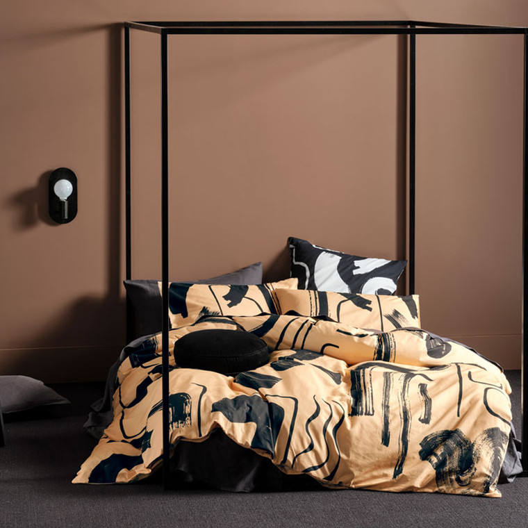 Arden Taupe Quilt Cover Set | Linen House