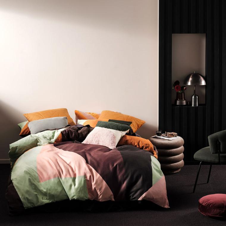 Ettie Espresso Quilt Cover Set   Linen House