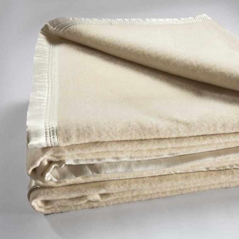 Bianca Australian Wool Blanket Cream