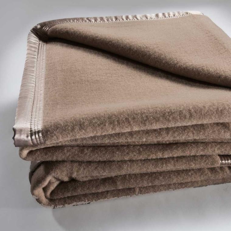 Bianca Australian Wool Blanket|Mocca