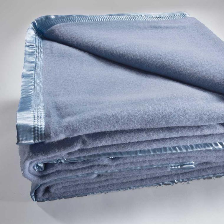 Bianca Australian Wool Blanket Steel Blue