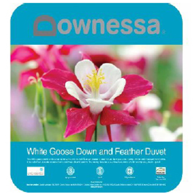 White Goose Down and Feather Quilt   King   Downessa