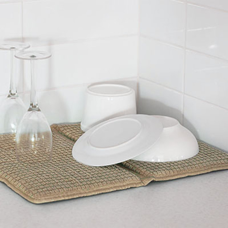 Bambury Microfibre Deluxe Dish Mat|Mocha