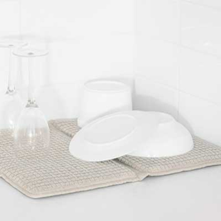 Microfibre Deluxe Dish Mat by Bambury|Stone