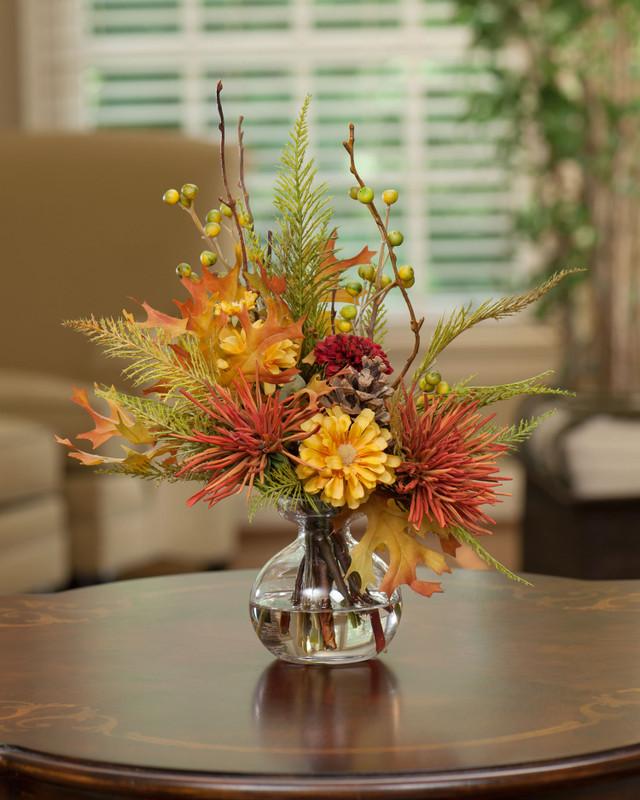 Harvest Moon Silk Flower Arrangement
