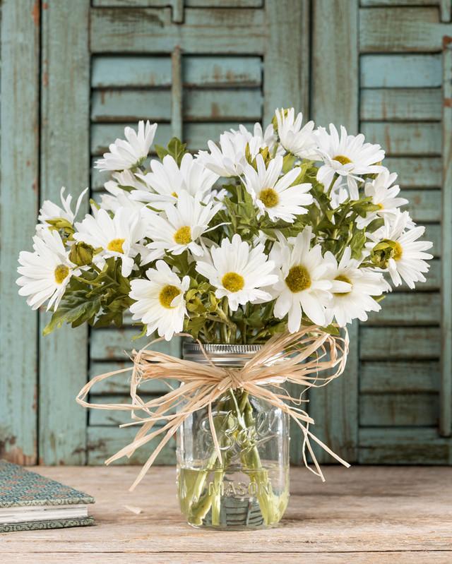 Farmhouse Daisies Silk Flower Arrangement