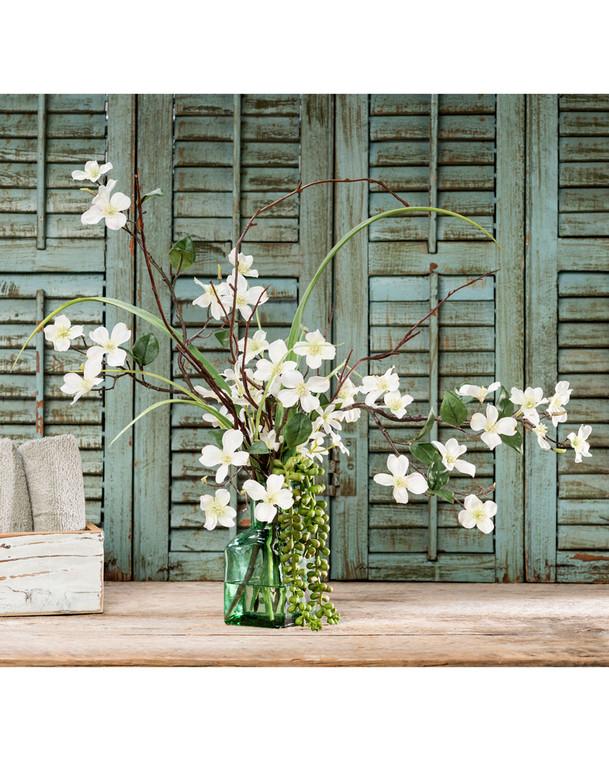 Dogwood Blossoms<br>Silk Flower Arrangement