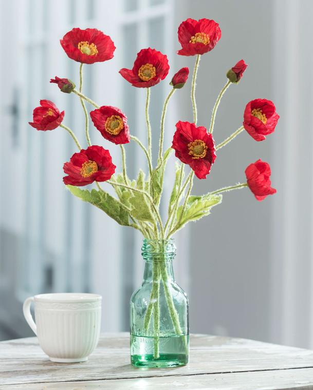 California Poppies Silk Flower Arrangement