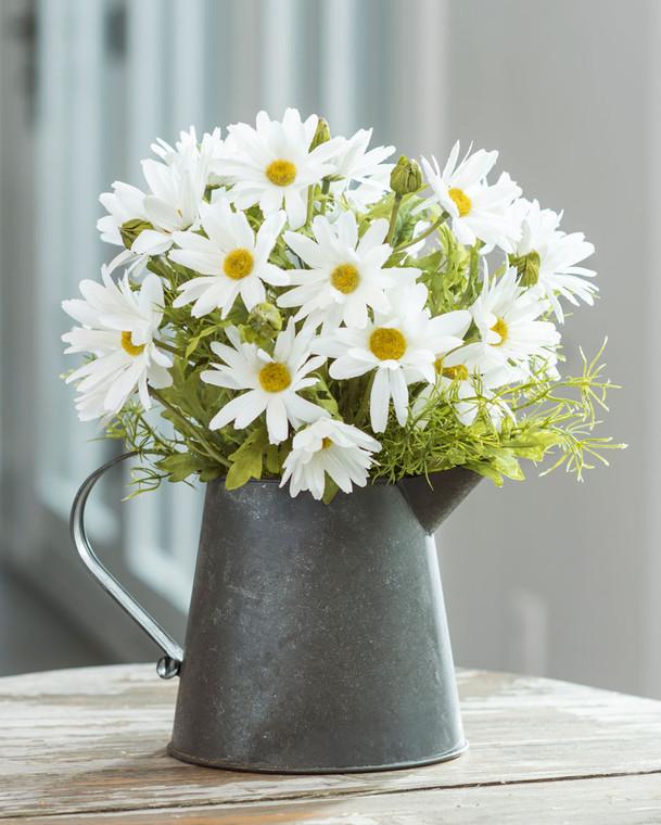 Delightful Daisies Silk Flower Arrangement - White