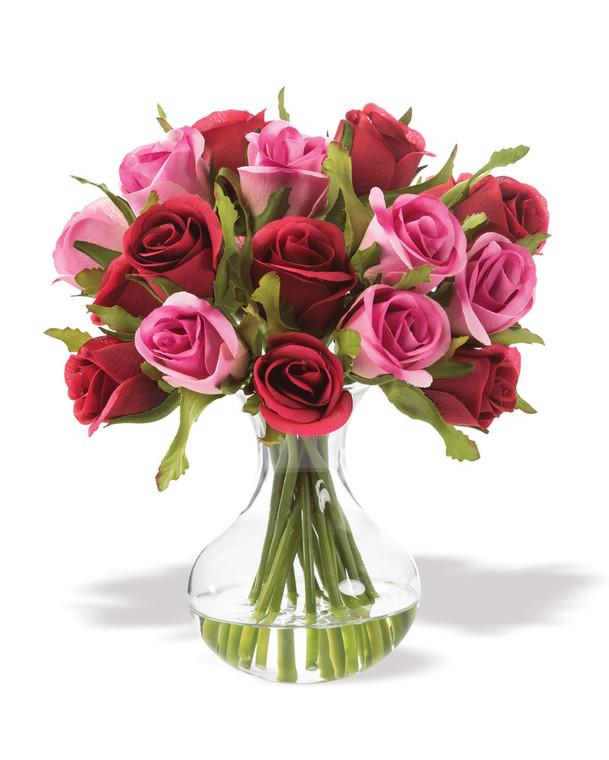 Sweetheart Rose Silk Flower Arrangement