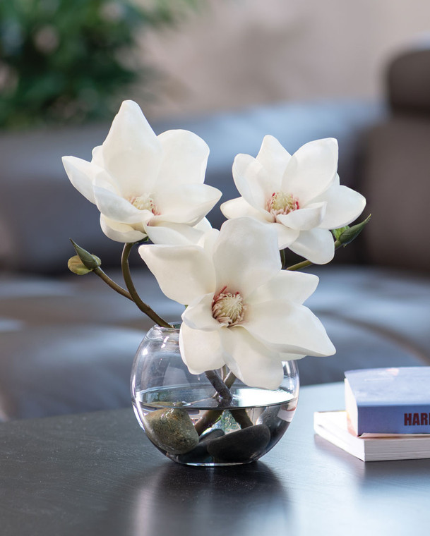 Tree Magnolia Faux Flower Accent