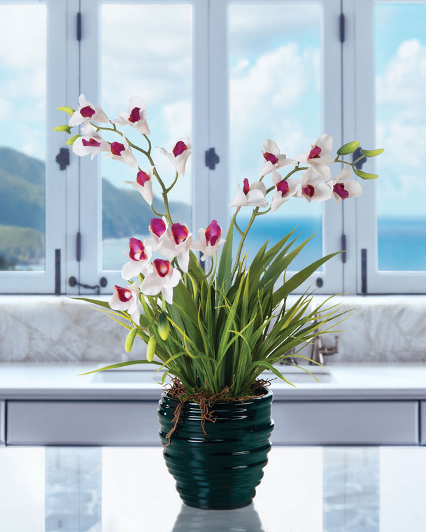 Dendrobium Orchid Artificial Tabletop Plant
