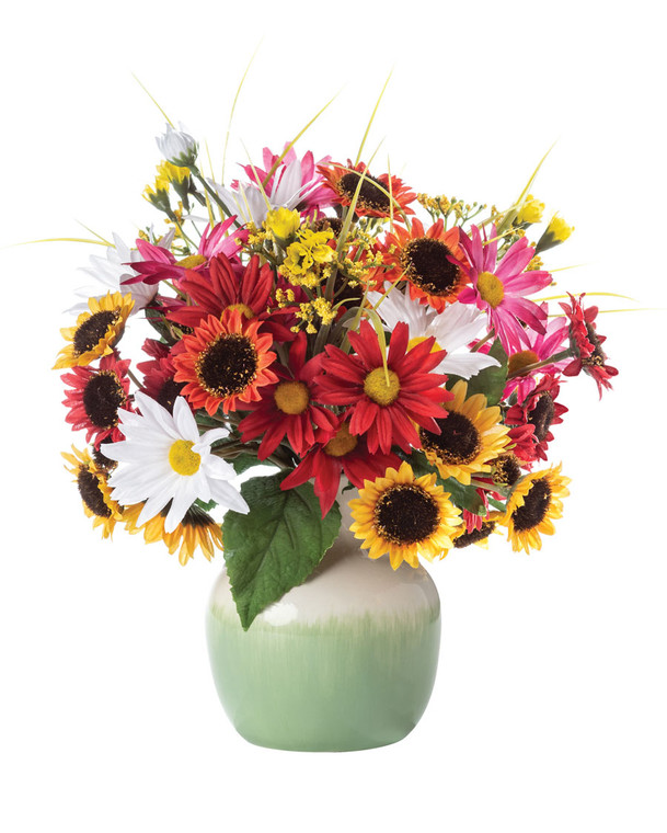 Sunflower & Daisy<br>Faux Flower Accent