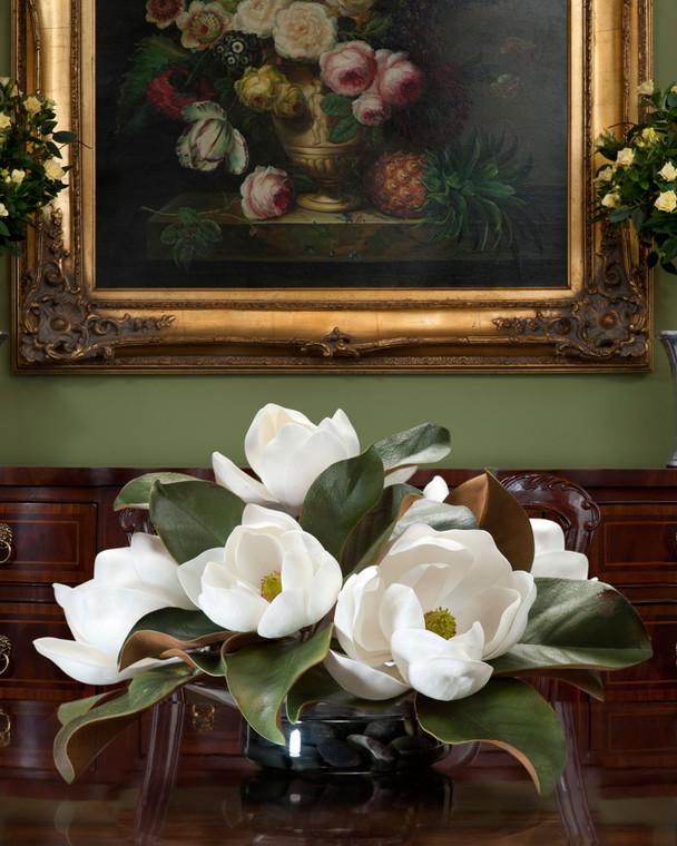 Magnolia Silk Floral Centerpiece