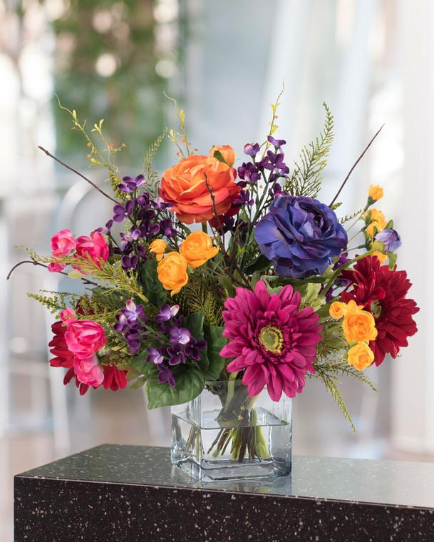Festive Mood Silk Flower Centerpiece