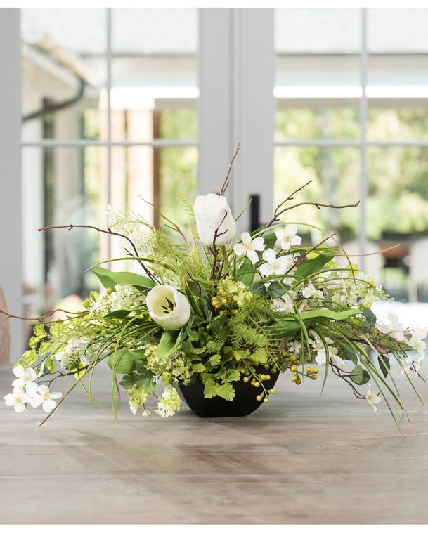 Lilac, Dogwood, & Tulip<br>Silk Flower Centerpiece