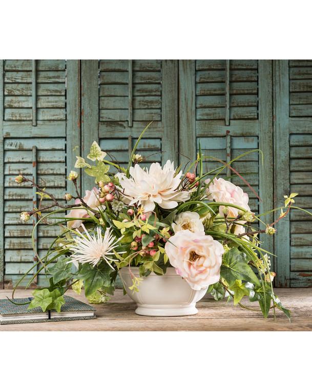 Rose & Berry<br>Silk Flower Centerpiece