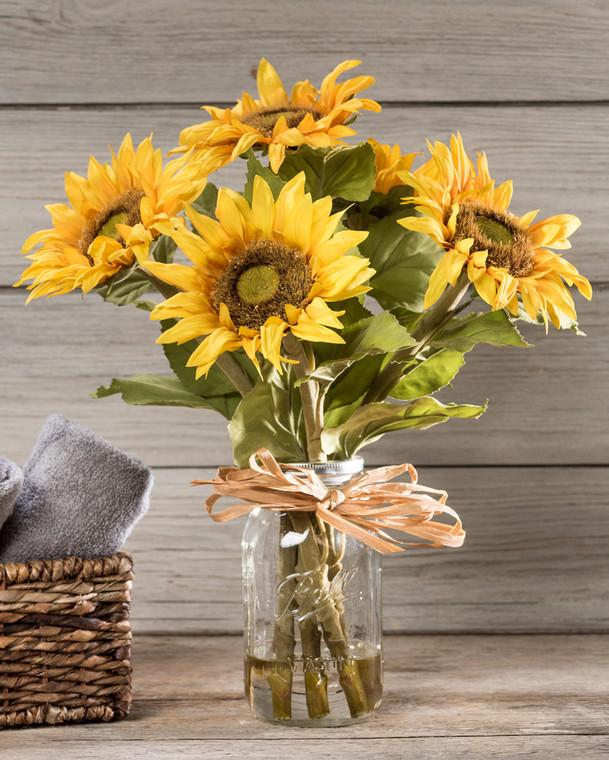Country Sunflowers<br>Silk Flower Arrangement