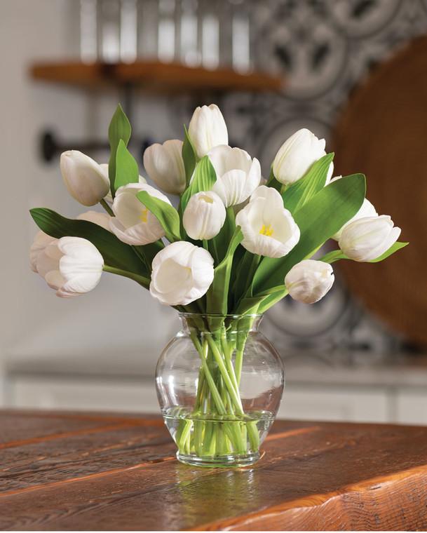 Garden Tulip<br>Faux Flower Bouquet