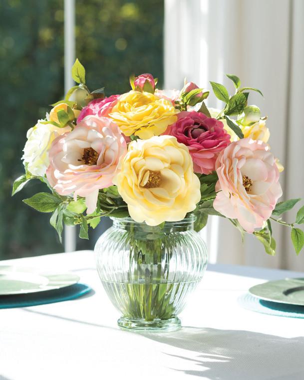 Rose & Ranunculus<br>Faux Flower Bouquet