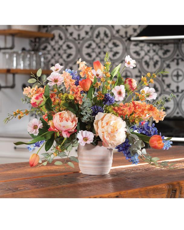 Flower Market Fantasy<br>Faux Flower Arrangement