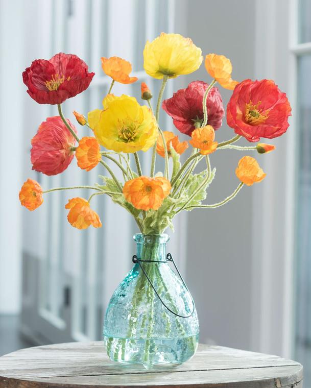 Poppy Passion Silk Flower Arrangement