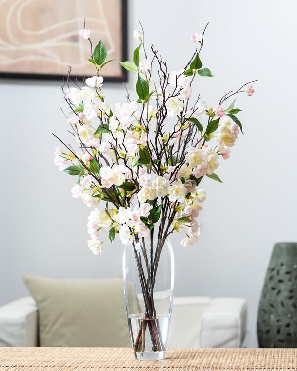 Apple Blossom Silk Flower Arrangement