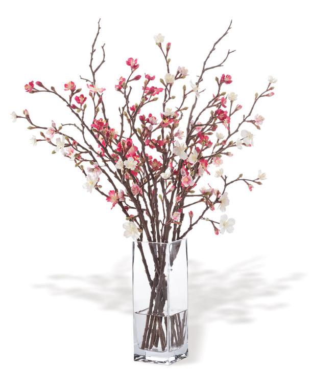 Cherry Blossom Silk Flower Arrangement