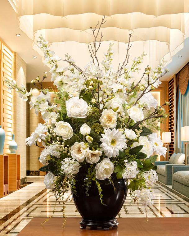 Pure Elegance Silk Flower Arrangement