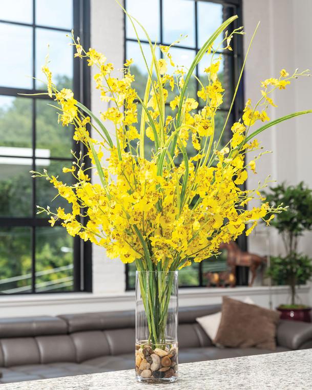 Oncidium Orchids Silk Flower Arrangement