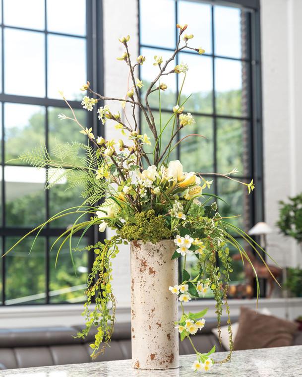 Alstroemeria & Budding Maple Silk Flower Arrangement