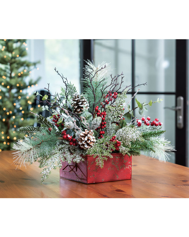 Winterberry Frost<br>Artificial Holiday Centerpiece