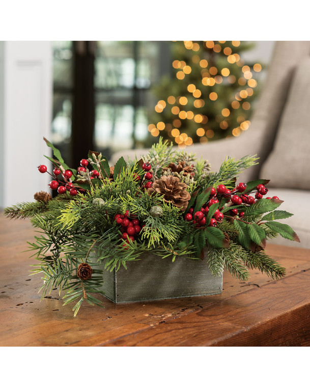 JR Pine & Berry<br>Artificial Holiday Centerpiece